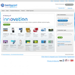Barclaycard site on iPhone