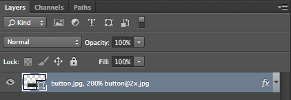 Screenshot of layer name syntax using Adobe Generator in Photoshop