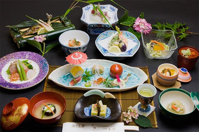 Japanese kaiseki traditional food