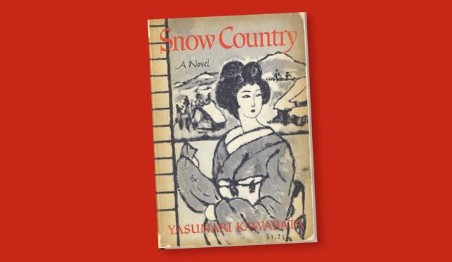 book cover of Yasunari Kawabata's novel Snow Country