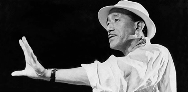 The Japanese film director Yasujirō Ozu.